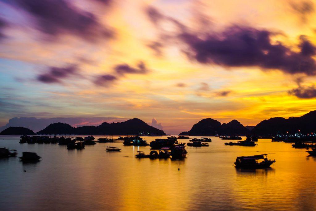 Sunset on Cat Ba Island, Vietnam