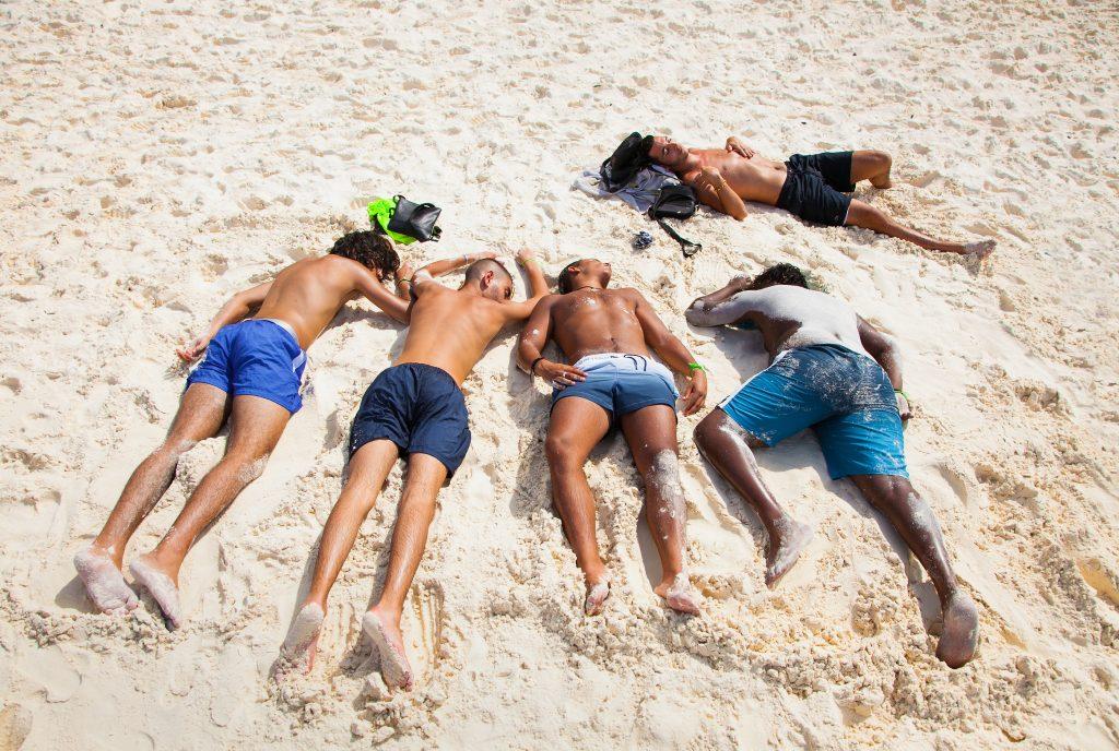 Sleeping on the beach in Thailand