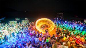 Fire dancer at Koh Phangan's Full Moon Party