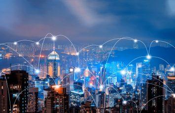 Downtown Hong Kong and technology
