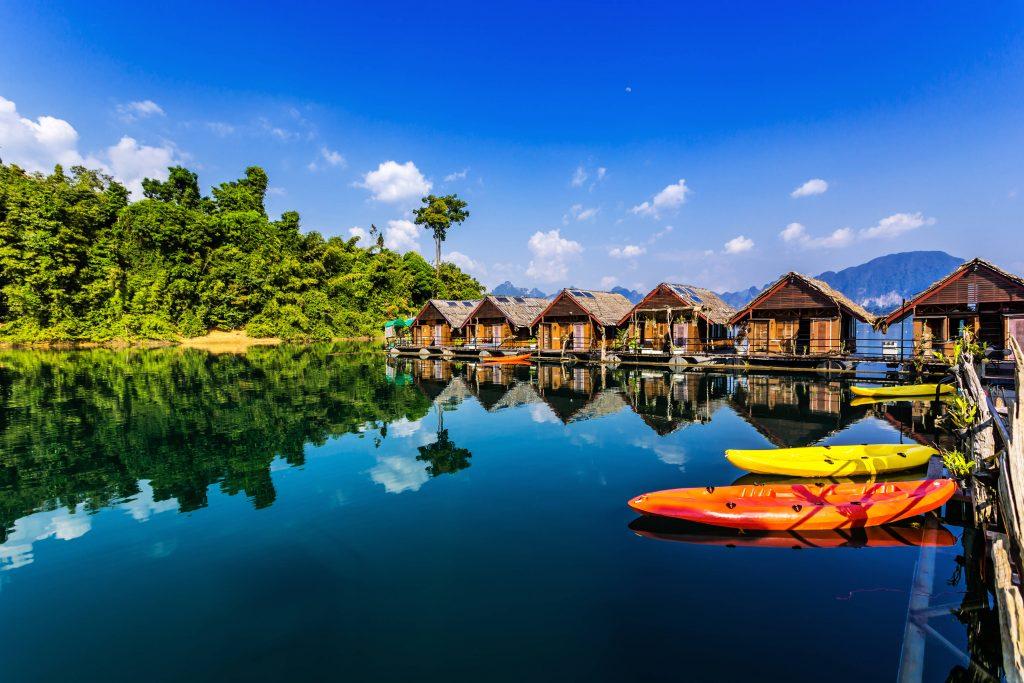 Floating bungalows, Khao Sok National Park, Thailand