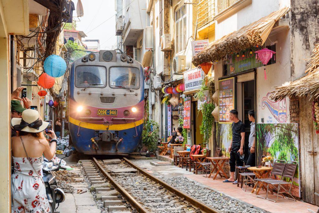 Hanoi Train Street, Hanoi Old Quarter, Vietnam