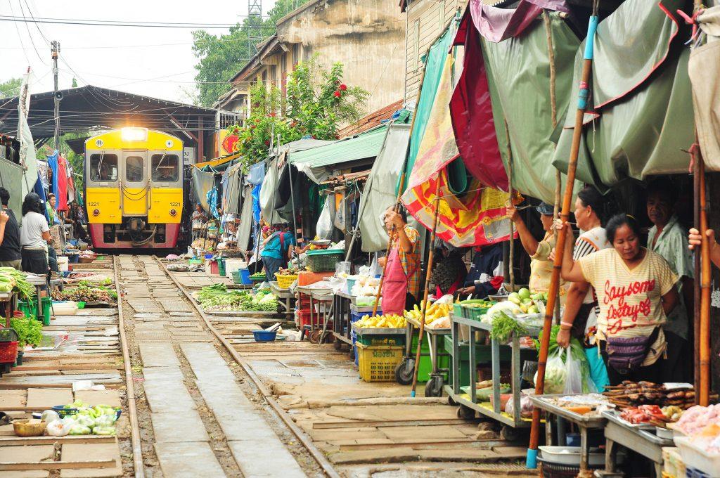 Maeklong Railway Market, Thailand
