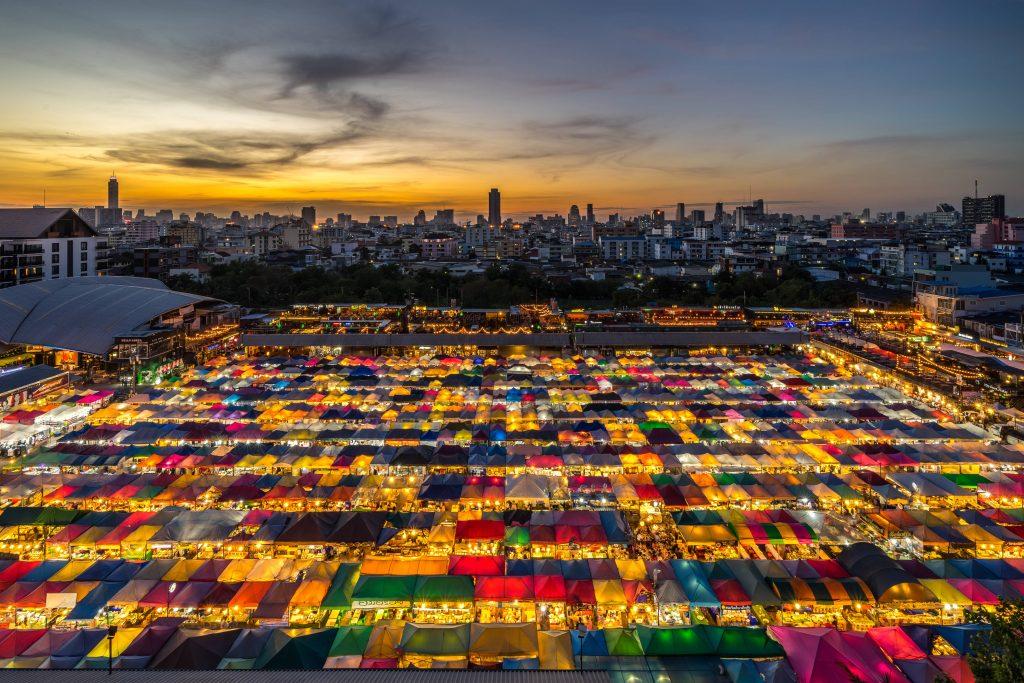 Ratchada Rot Fai Train Night Market, Bangkok, Thailand