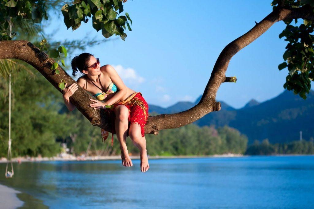 Girl on Koh Chang beach, Thailand