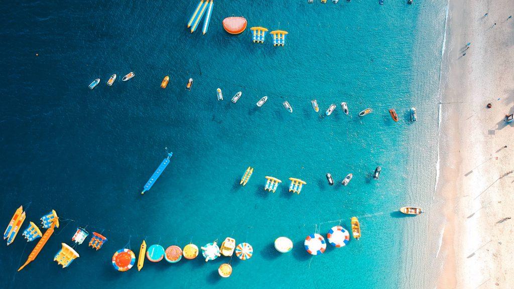 Water sports at White Beach, Puerto Galera, Philippines