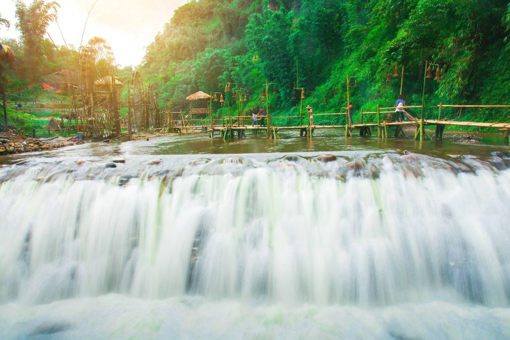 Tien Sa waterfall, Cat Cat Village, Sapa, Vietnam