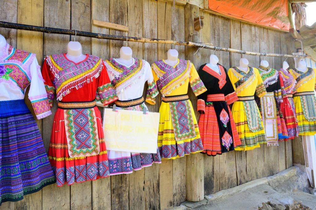 Traditional clothing in Cat Cat Village, Sapa, Vietnam