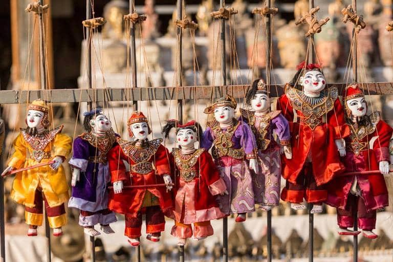 Burmese marionette puppets