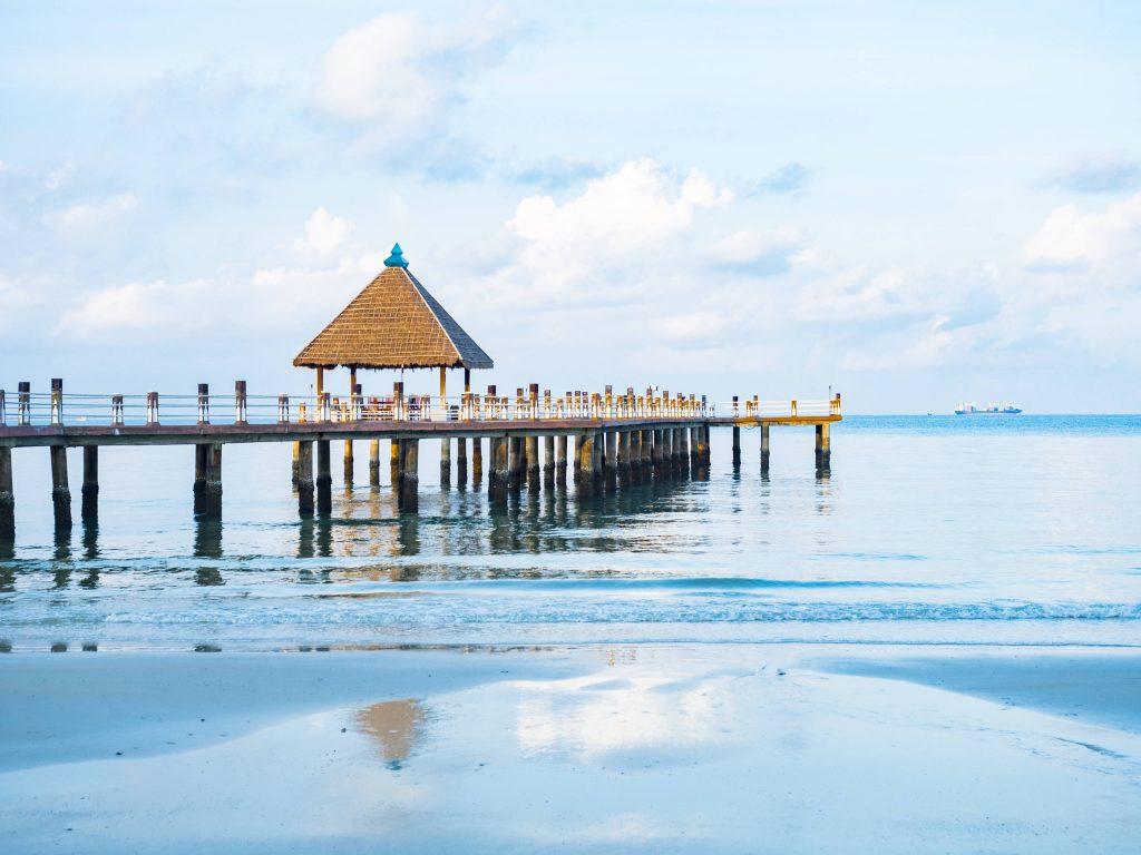 Ocean pier in Sihanoukville, Cambodia