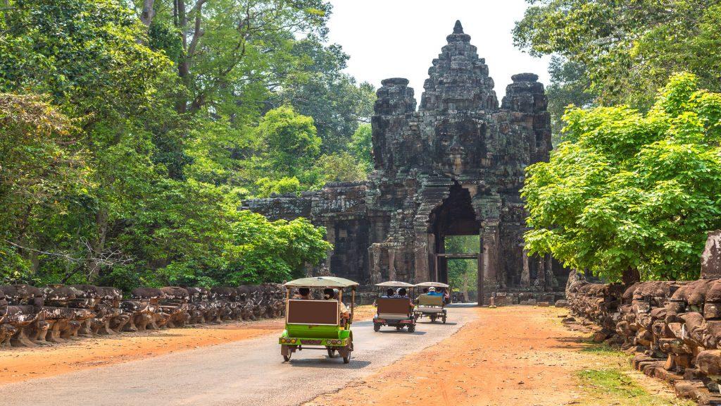 Tuk tuk, Angkor Thom, near Siem Reap