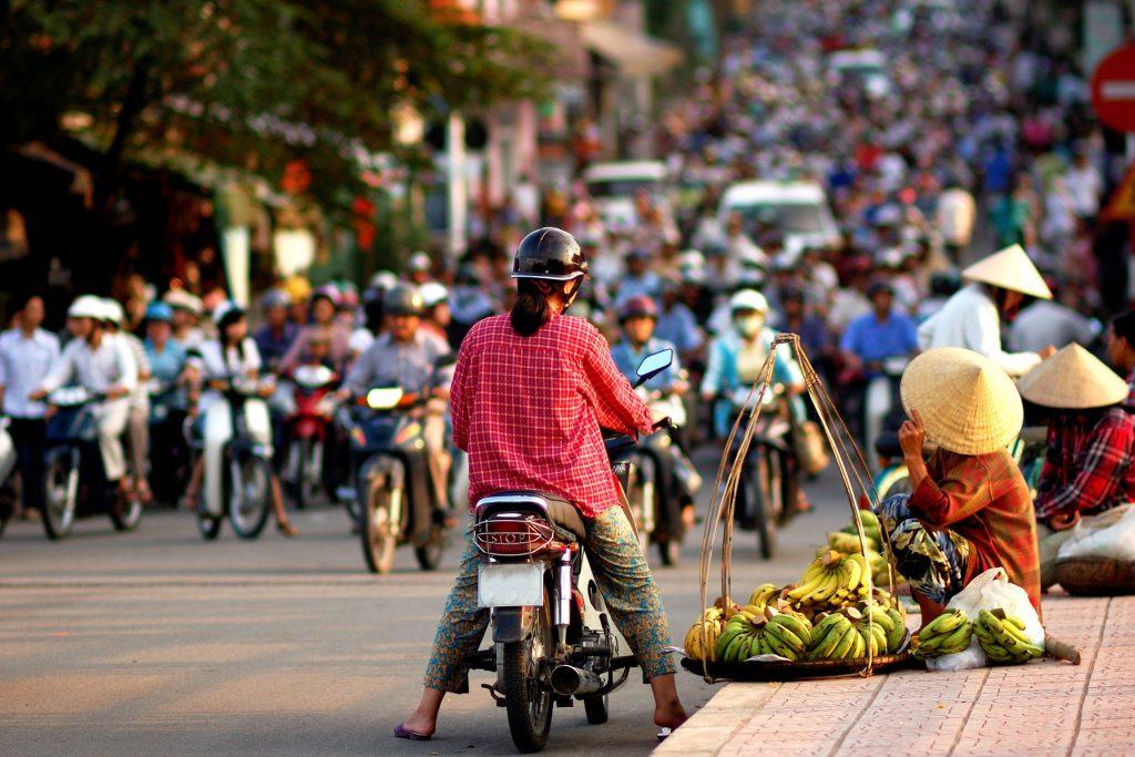 Traffic jam, Vietnam