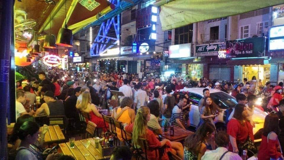 Buy Vien, Ho Chi Minh City on Christmas Day