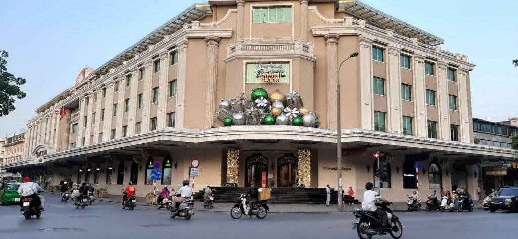 Christmas decorations in Hanoi