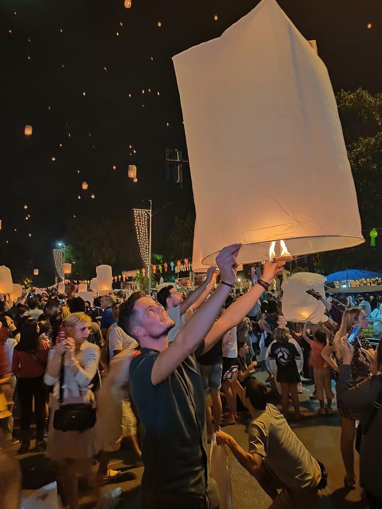 Maarten, Gecko Routes, Chiang Mai Lantern Festival