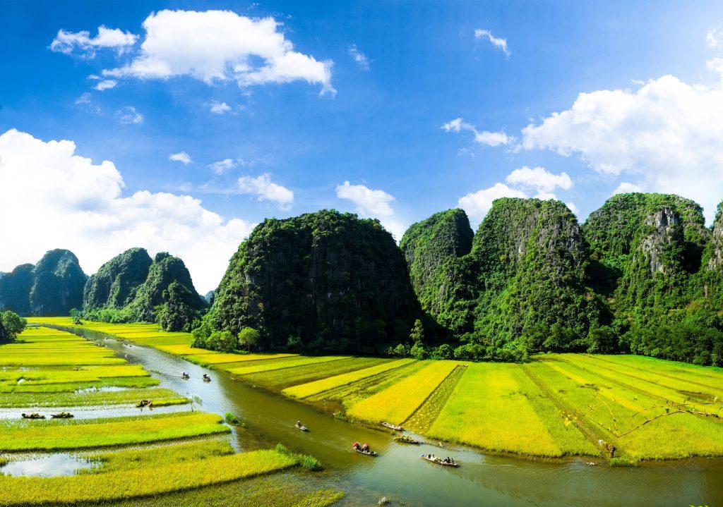 NgoDong River, Ninh Binh, Vietnam