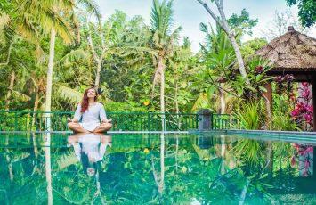 Meditating in Indonesia
