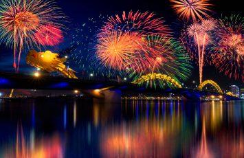 Tet fireworks in Da Nang
