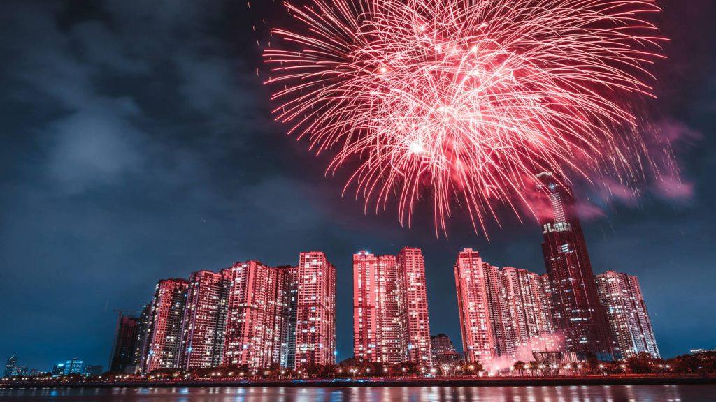 Tet fireworks in HCMC
