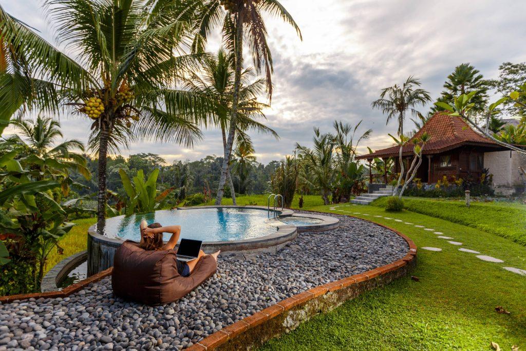 Travel blogger in Bali