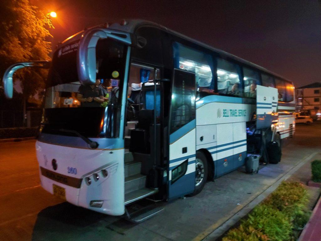 Bell Travel bus from Pattaya to Bangkok