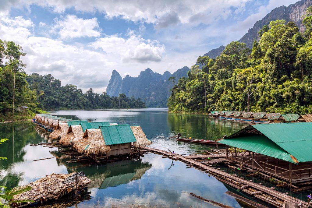 Floating village, Lake Cheow Lan, Khao Sok