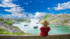 View of Long Chau Island, Cat Ba