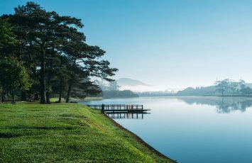 Ho Xuan Huong Lake, Da Lat, Vietnam