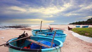 Coracle fishing boat, Mui Ne
