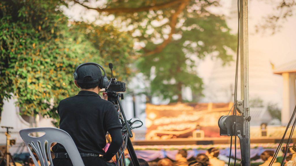 Filming at Thailand Film Festival