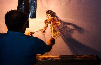 Shadow puppet show, Nakhon Si Thammarat